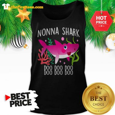 Nonna Shark Doo Doo Doo Christmas Lovely Tank Top - Design by Thefristtees.com