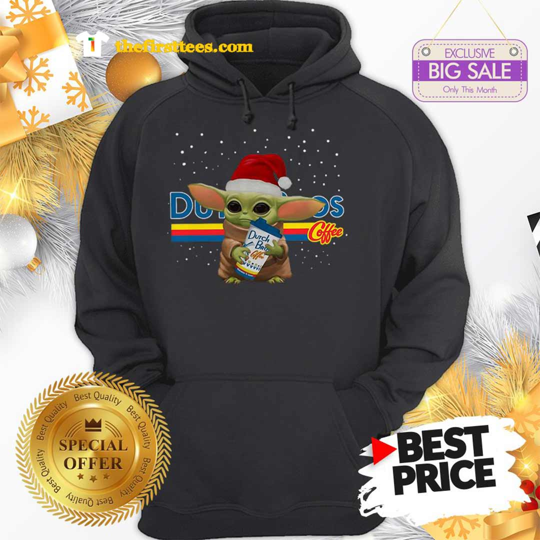 Official Baby Yoda Hug Dutch Bros Coffee Christmas Lovely Hoodie - Design by Thefristtees.com