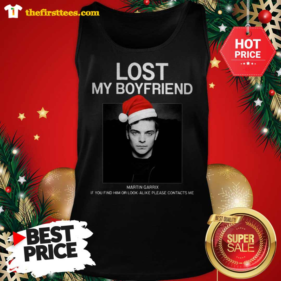 Official Hot Men Lost My Boyfriend Martin Garrix If You Find Him Or Look Alike Tank Top - Design by Thefristtees.com