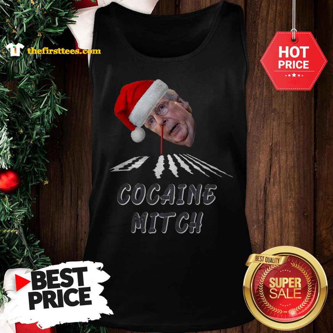 Official Hot Santa Cocaine Mitch Christmas Tank Top - Design by Thefristtees.com
