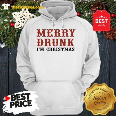 Official Merry Drunk I'm Christmas Hoodie - Design by Thefristtees.com