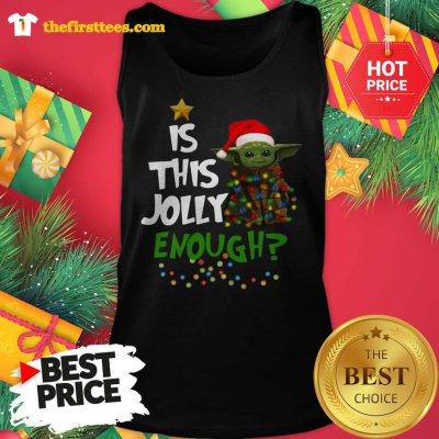 Official Santa Baby Yoda Is This Jolly Enough Christmas Tank Top - Design by Thefristtees.com