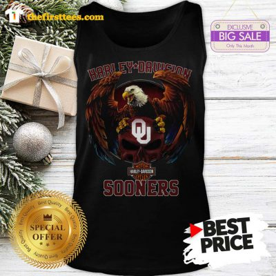 Top Eagle Harley Davidson Oklahoma Sooners Tank Top- Design by Thefristtees.com