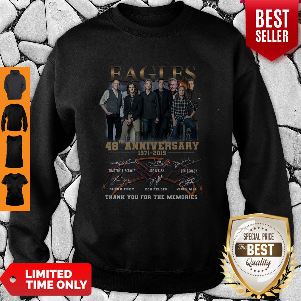 Eagles 49th Anniversary 1971 2020 Signature Thank You For The Memories Sweatshirt