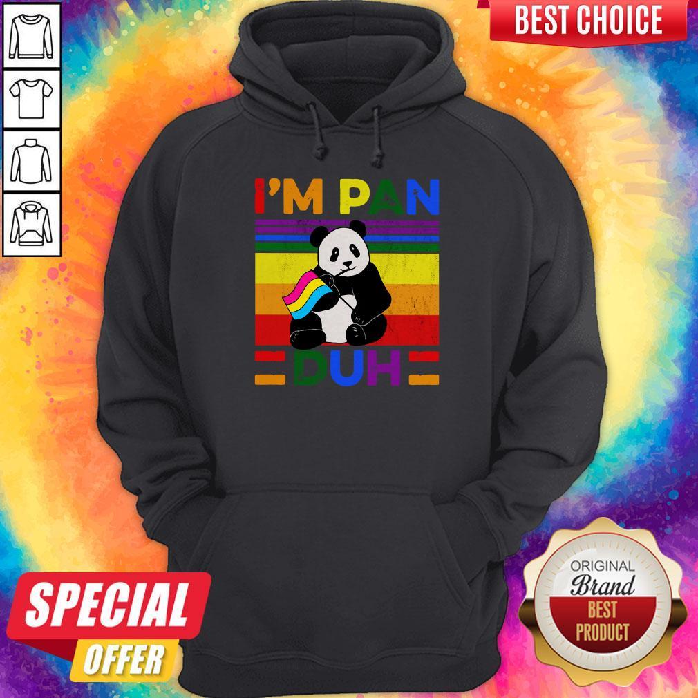 Cute LGBT Panda I'm Pan Duh Vintage Hoodie