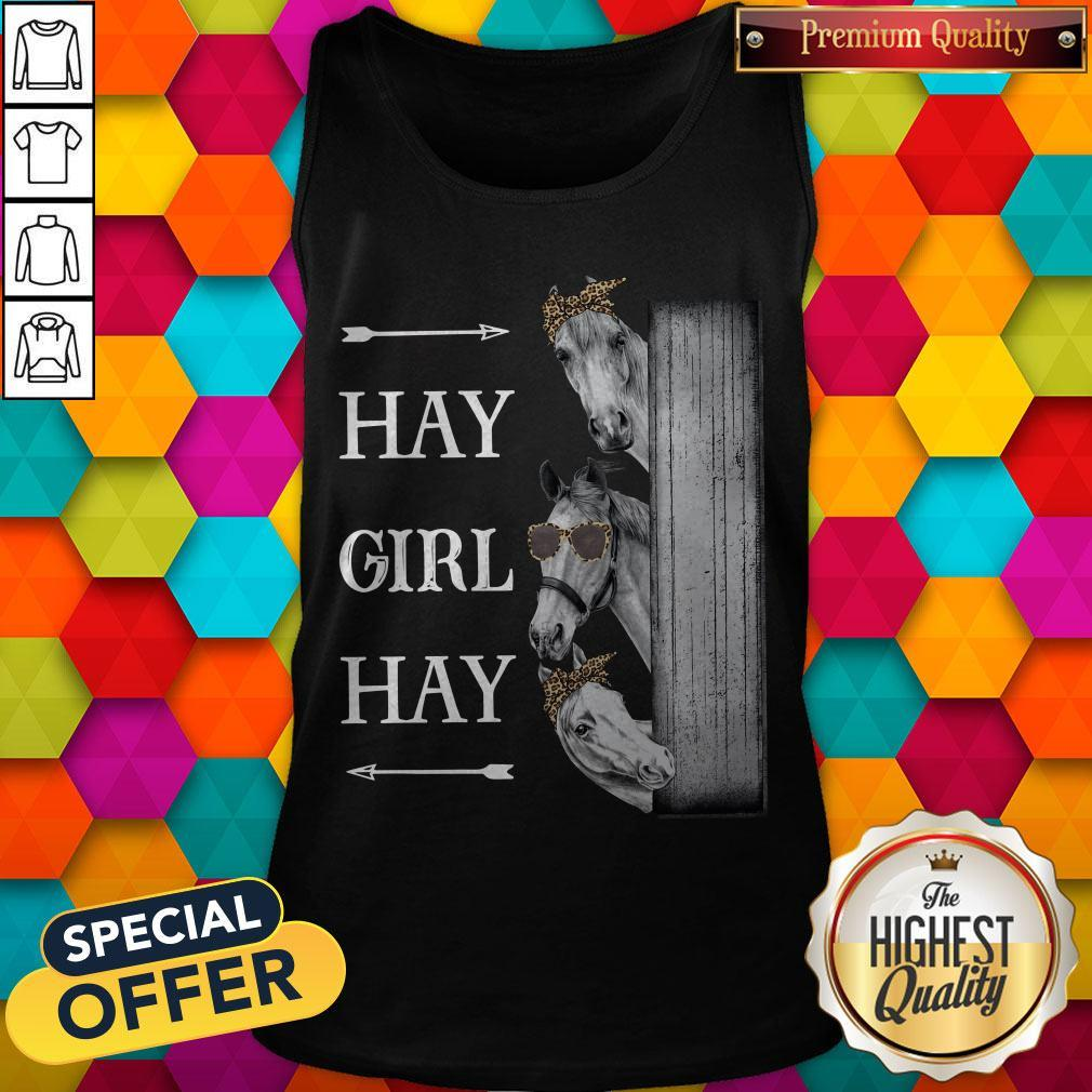 Awesome Horse Hay Girl Hay Tank Top