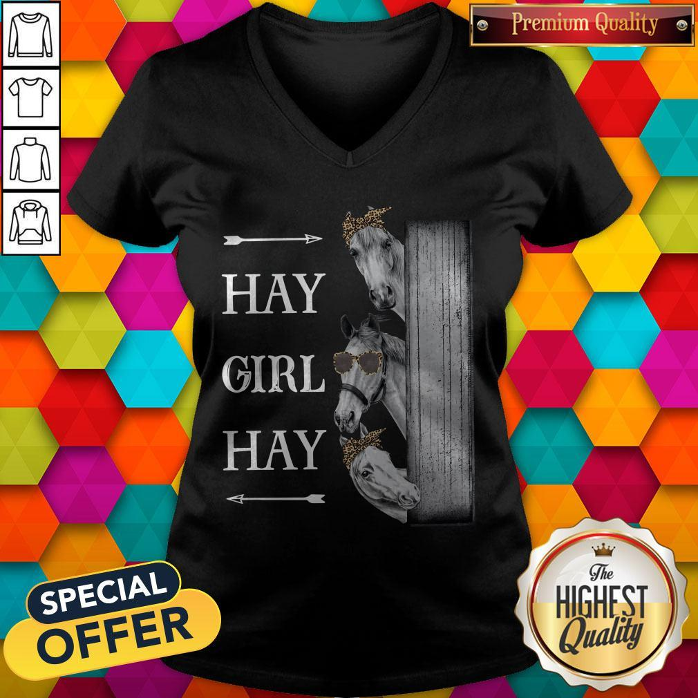 Awesome Horse Hay Girl Hay V-neck