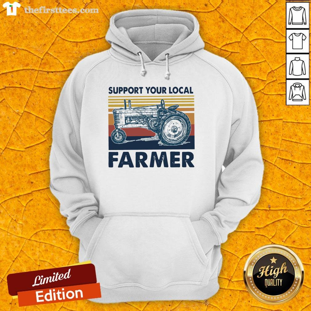 Hot Vintage Support Your Local Farmer Classic Hoodie-Design By Wardtee.com