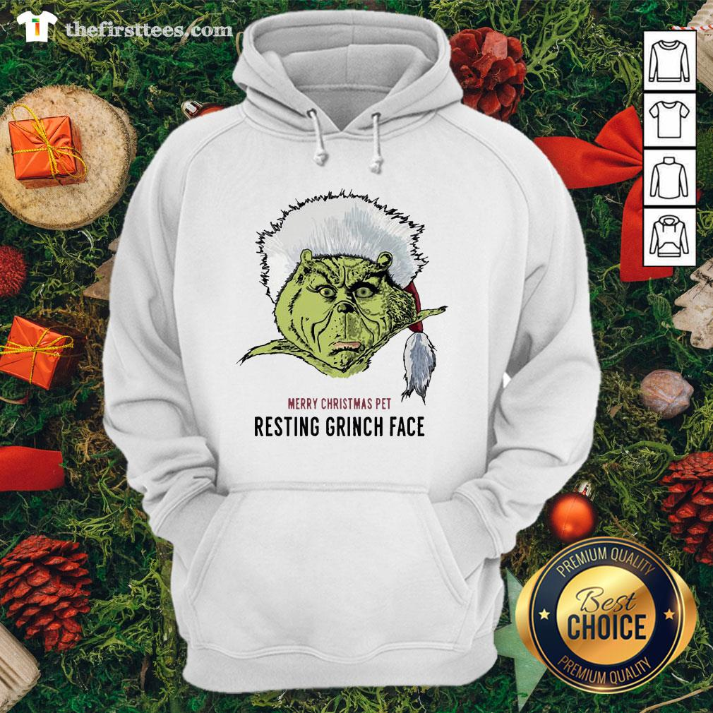 Funny Merry Christmas Pet Resting Grinch Face Hoodie - Design By Thefirsttees.com