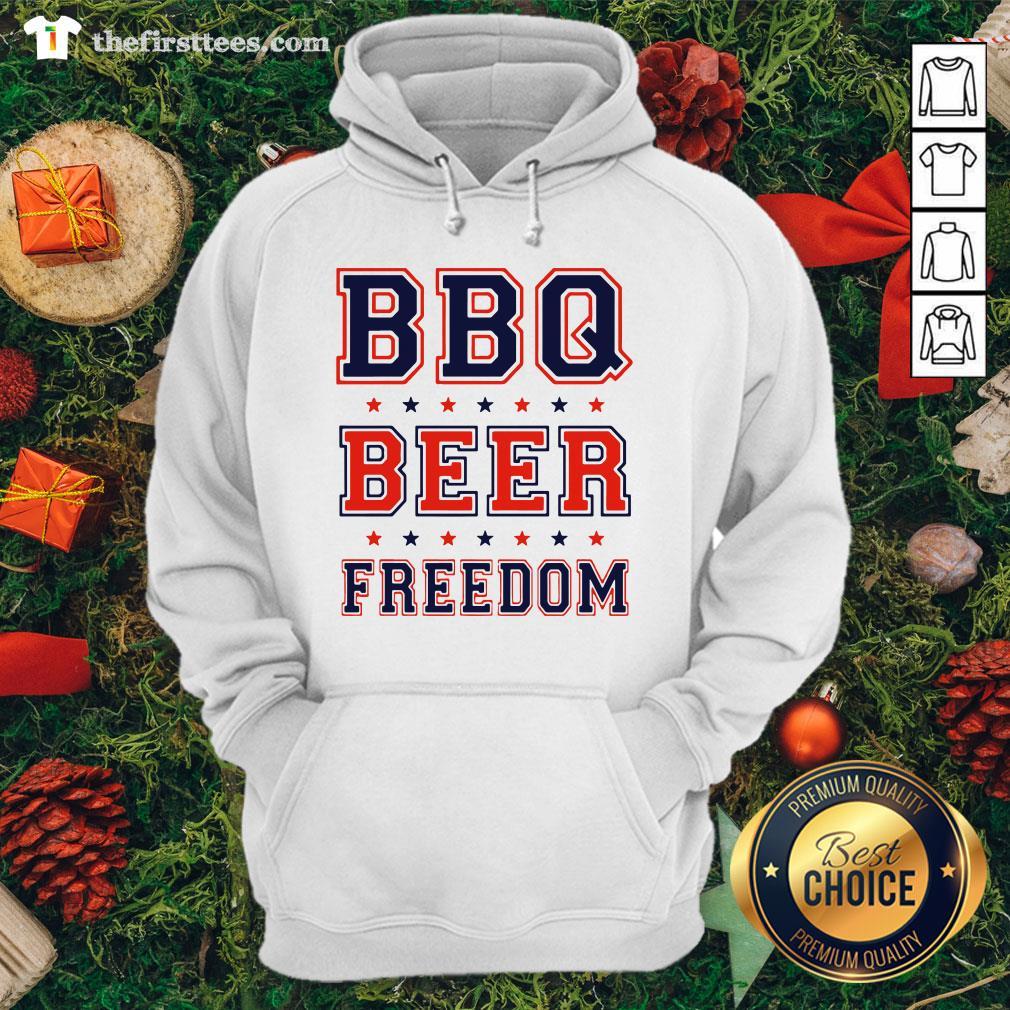 Premium BBQ Beer Freedom Hoodie - Design By Thefirsttees.com