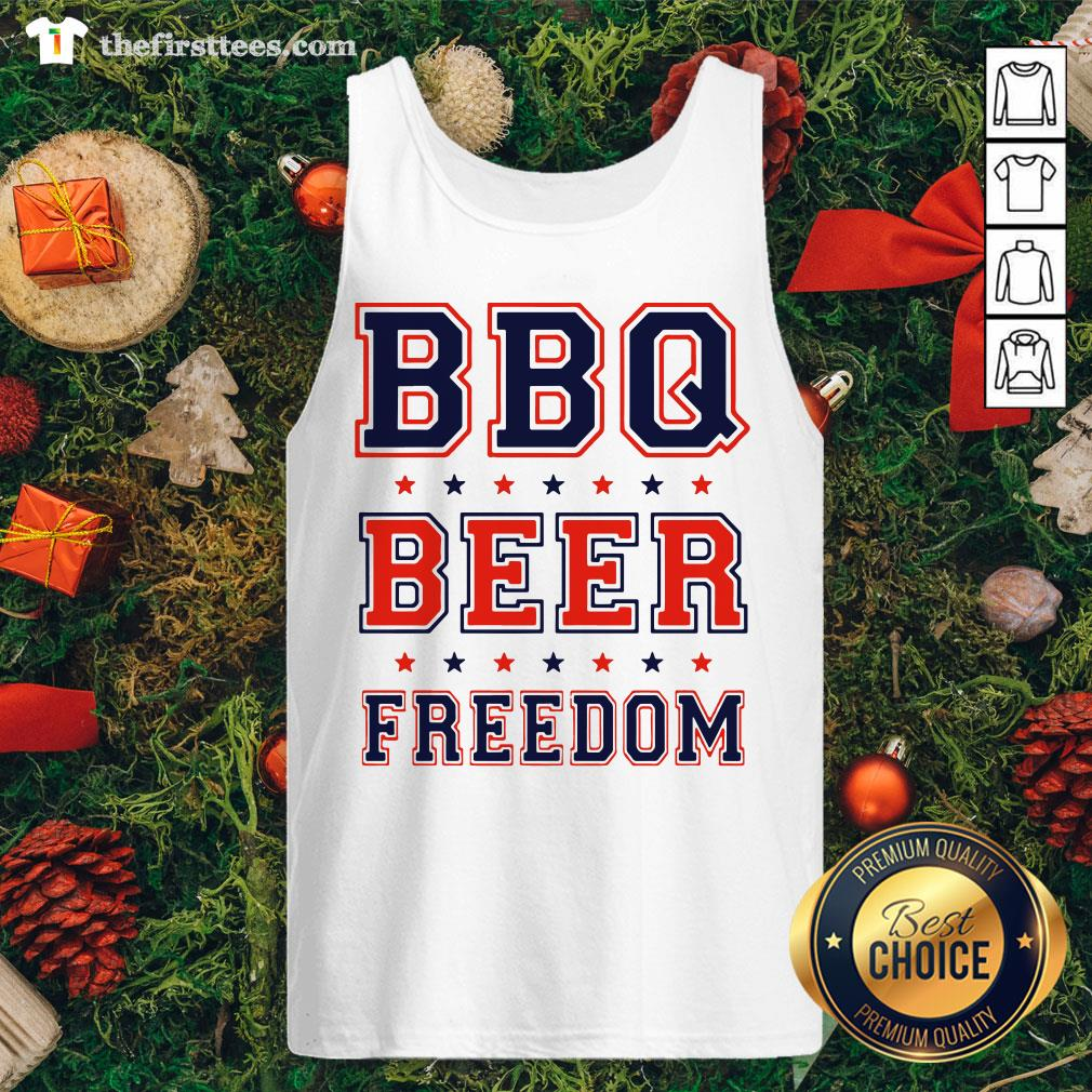Premium BBQ Beer Freedom Tank Top - Design By Thefirsttees.com