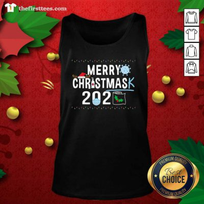 Merry Christmas 2929 Toilet Paper Mask Coronavirus Tank Top - Design by Thefristtees.com