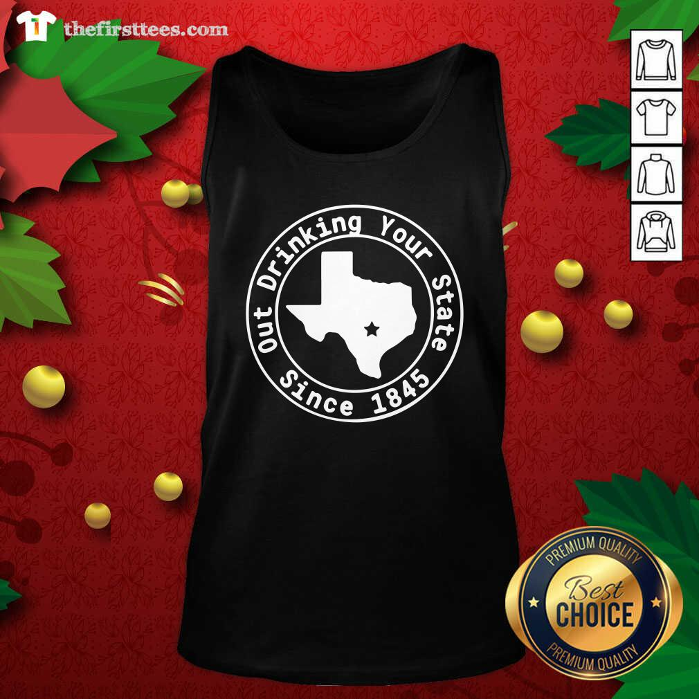 Texas Out Drinking Your State Since 1845 Beer Tank Top - Design by Thefirsttees.com
