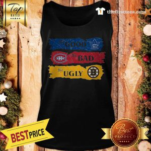 Amazing The Pretty Boston Bruins The Bad Toronto Maple Leafs The Ugly Montreal Canadiens Tank Top - Design by Thefristtees.com