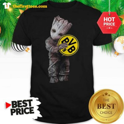Baby Groot Hug Borussia Dortmund A Good Shirt - Design by Thefristtees.com