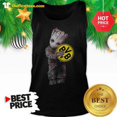 Baby Groot Hug Borussia Dortmund A Good Tank Top - Design by Thefristtees.com