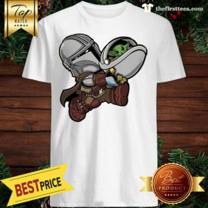 Bounty Bros – The Mandalorian Baby Yoda Kids Santa Shirt - Design by Thefristtees.com