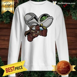 Bounty Bros – The Mandalorian Baby Yoda Kids Santa Sweatshirt - Design by Thefristtees.com