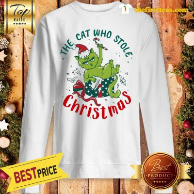 ELF The Cat Who Stole Christmas Sweatshirt - Design by Thefristtees.com