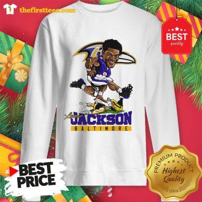 Lamar Jackson Baltimore Ravens Sweatshirt - Design by Thefristtees.com