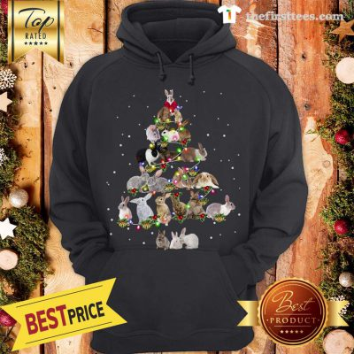 Lovely Rabbit Bunny Christmas Tree Gifts Xmas Costume Funny Hoodie - Design by Thefristtees.com