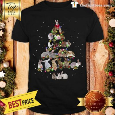 Lovely Rabbit Bunny Christmas Tree Gifts Xmas Costume Funny Shirt - Design by Thefristtees.com