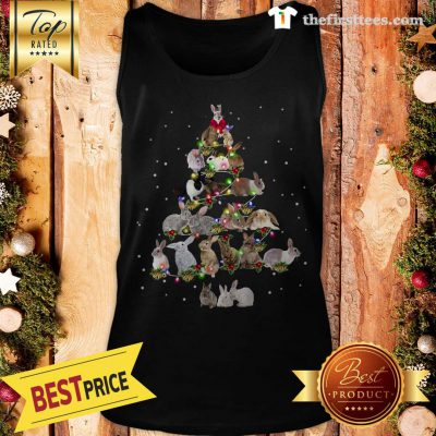 Lovely Rabbit Bunny Christmas Tree Gifts Xmas Costume Funny Tank Top - Design by Thefristtees.com