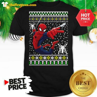 Official Amazing Spiderman ugly Christmas Shirt - Design by Thefristtees.com