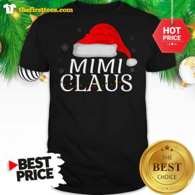 Official Beautiful Mini Claus Funny Christmas Pajamas Matching Grandmother Gift Shirt - Design by Thefristtees.com