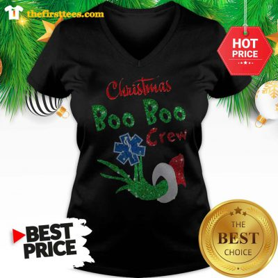 Official Christmas Boo Boo Crew Grinch Woderfull V-neck - Design by Thefristtees.com