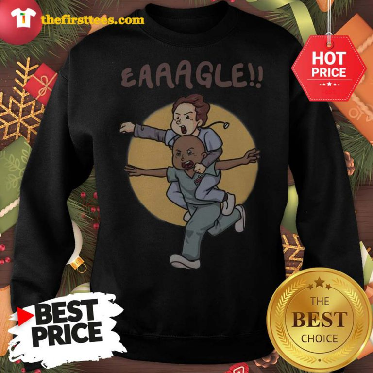 Official Eaaagle!! Sweatshirt - Design by Thefristtees.com