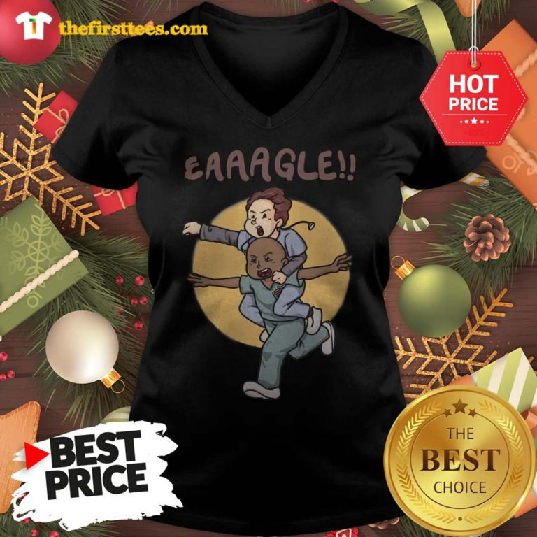 Official Eaaagle!! V-neck - Design by Thefristtees.com