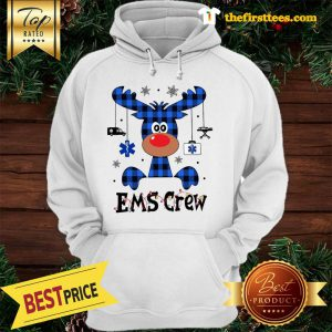Official EMS Crew Christmas Reindeer With Gift Classic Hoodie