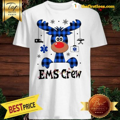 Official EMS Crew Christmas Reindeer With Gift Classic Shirt - Design by Thefristtees.com