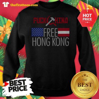 Official Fuck China Free Hong Kong Flag Sweatshirt - Design by Thefristtees.com
