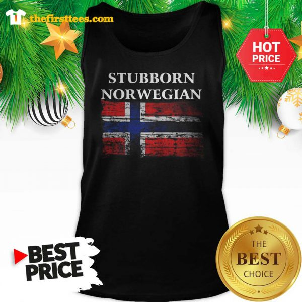 Iceland Flag Stubborn Nor Wegian Tank Top - Design by Thefristtee.com