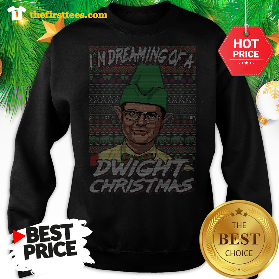Official I'm Dreaming Of A Dwight Christmas Ugly Sweatshirt