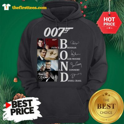 Official James Bond Characters 007 Hoodie - Design by Thefristtees.com