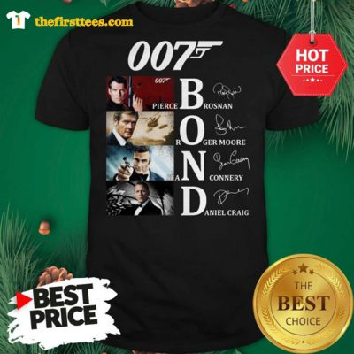 Official James Bond Characters 007 Shirt - Design by Thefristtees.com