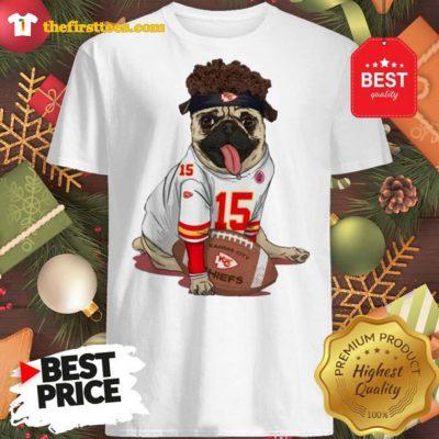 Official Kansas City Pug Mahomes Funny Shirt - Design by Thefristtees.com