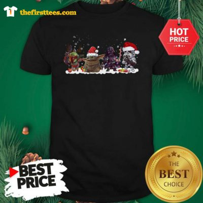 Official Star Wars The Mandalorian The Child Portrait Merry Christmas Shirt - Design by Thefristtees.com