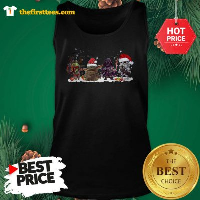 Official Star Wars The Mandalorian The Child Portrait Merry Christmas Tank top - Design by Thefristtees.com