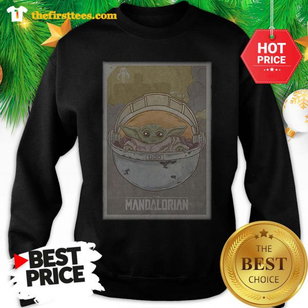 Official The Mandalorian Baby Yoda Star Wars Sweatshirt - Design by Thefristtees.com