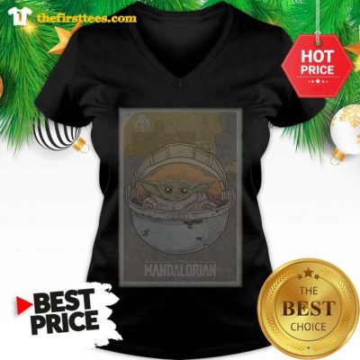 Official The Mandalorian Baby Yoda Star Wars V-Neck - Design by Thefristtees.com