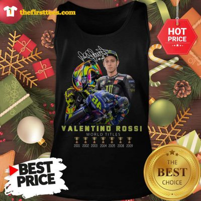 Official Valentino Rossi World Titles Signature Tank Top - Design by Thefristtees.com