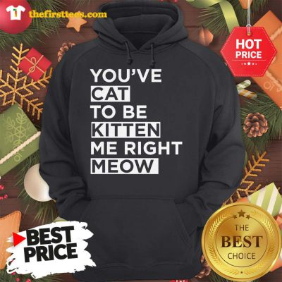 Official You've Cat To Be Kitten Me Right Meow Hoodie - Design by Thefristtees.com