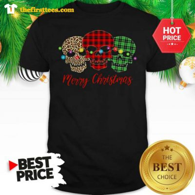 Skull Tattoos Christmas Funny Shirt - Design by Thefristtees.com