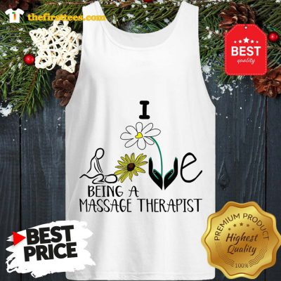 Sunflower I Love Being A Massage Therapist Tank Top - Design by Thefristtees.com
