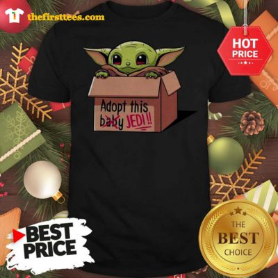 The mandalorian Adopt This Baby Jedi Shirt - Design by Thefristtees.com