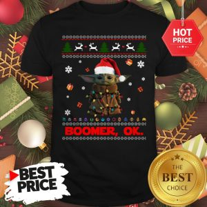 The Mandalorian Baby Yoda Boomer Ok Ugly Christmas Shirt